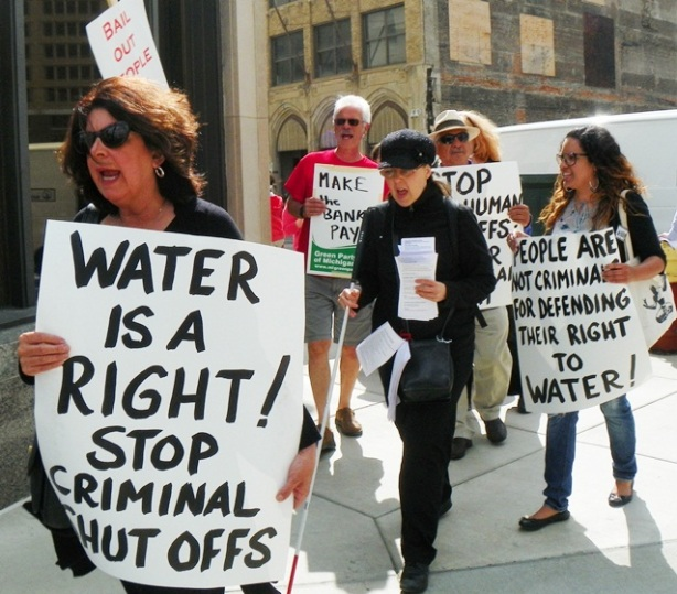 DETROIT WATER SHUT-OFFS, MASS INCARCERATION FOR PROTESTERS