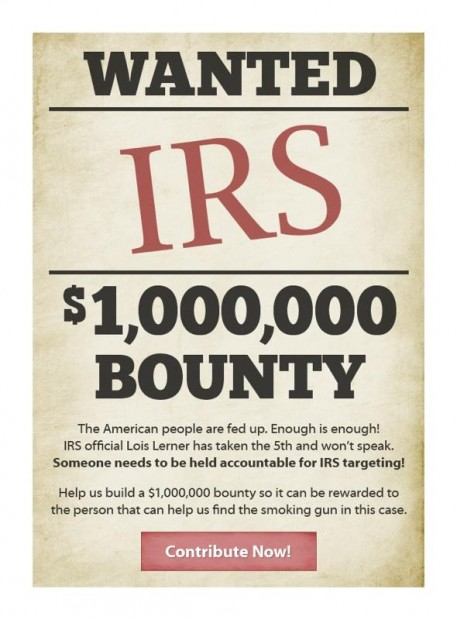 $1 Million Bounty to Be Offered for evidence in IRS Targeting Scandal