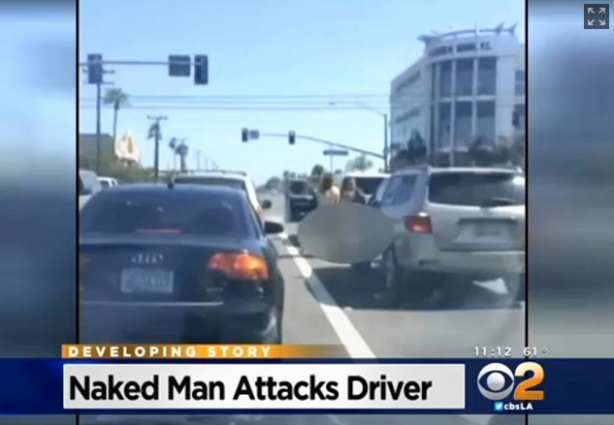 (another) Naked Man Attacks Woman In OC Intersection
